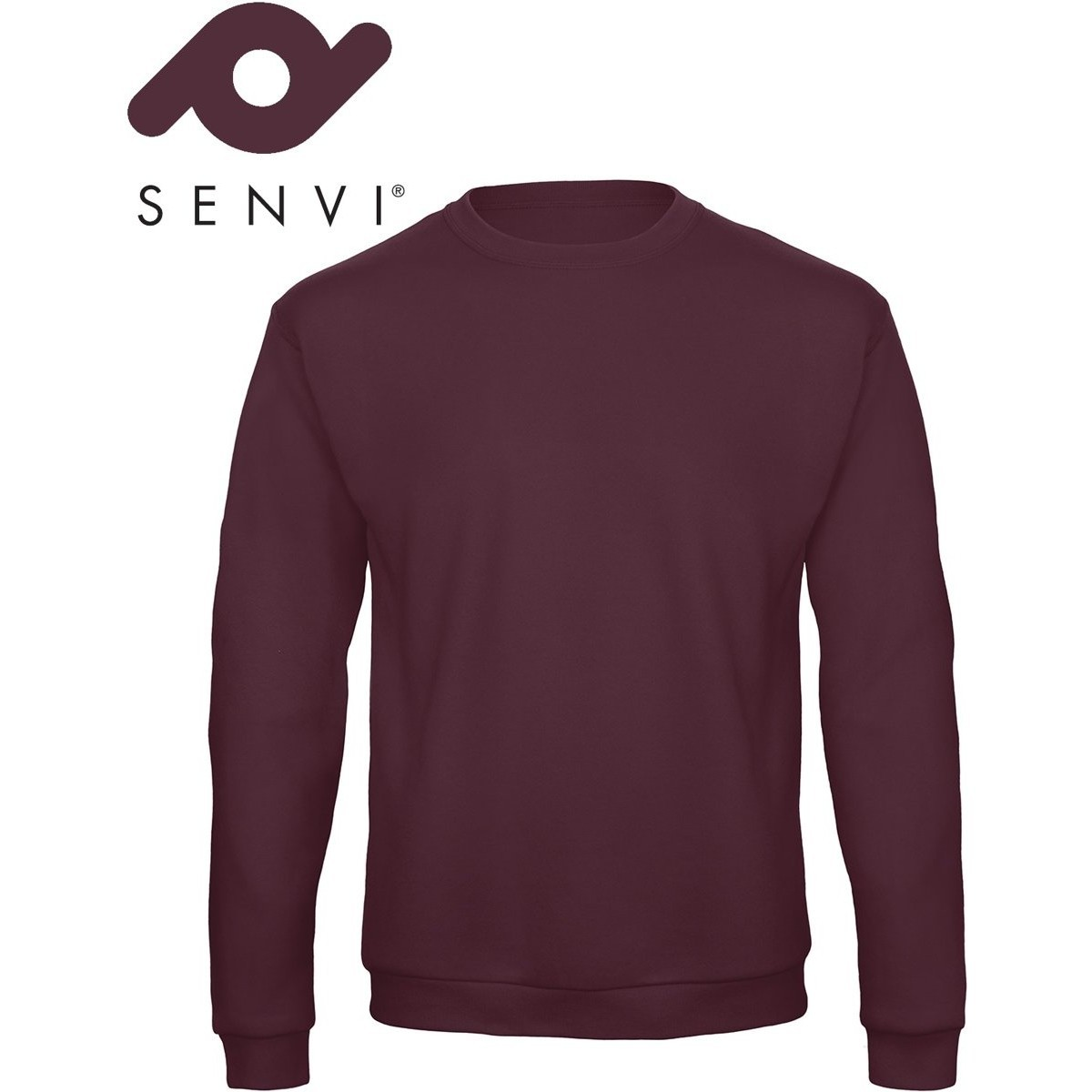 Senvi Basic Sweater (Kleur: Burgundy) - (Maat L)