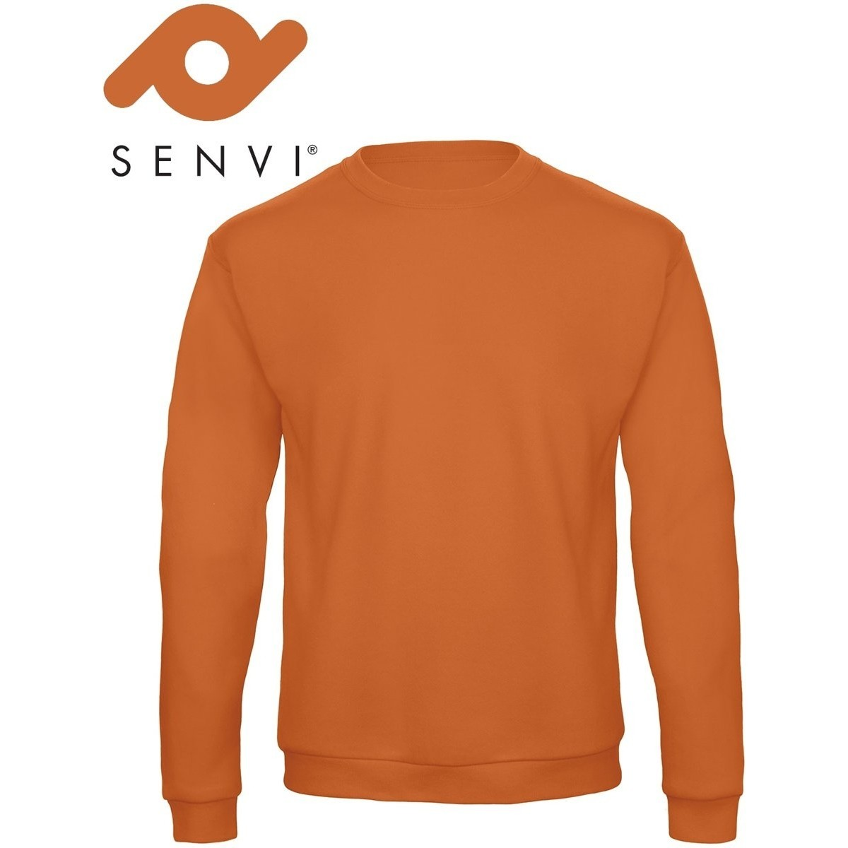 Senvi Basic Sweater (Kleur: Oranje) - (Maat XXXXL - 4XL)