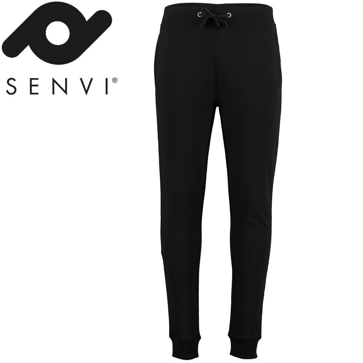 Senvi Slim Fit Sweat Pants Zwart XS