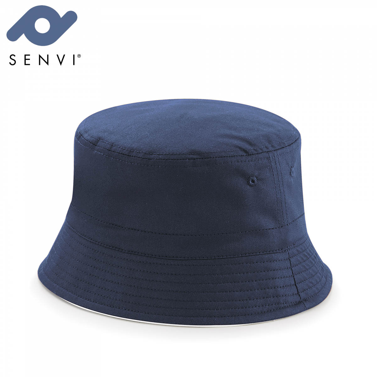 Senvi Reversible Bucket Hat Maat S/M Blauw Wit