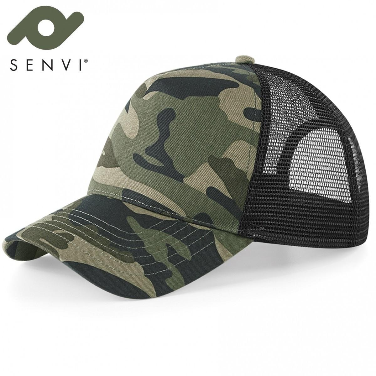 Senvi Urban Trucker Camo Cap-Pet kleur: Jungle Camo