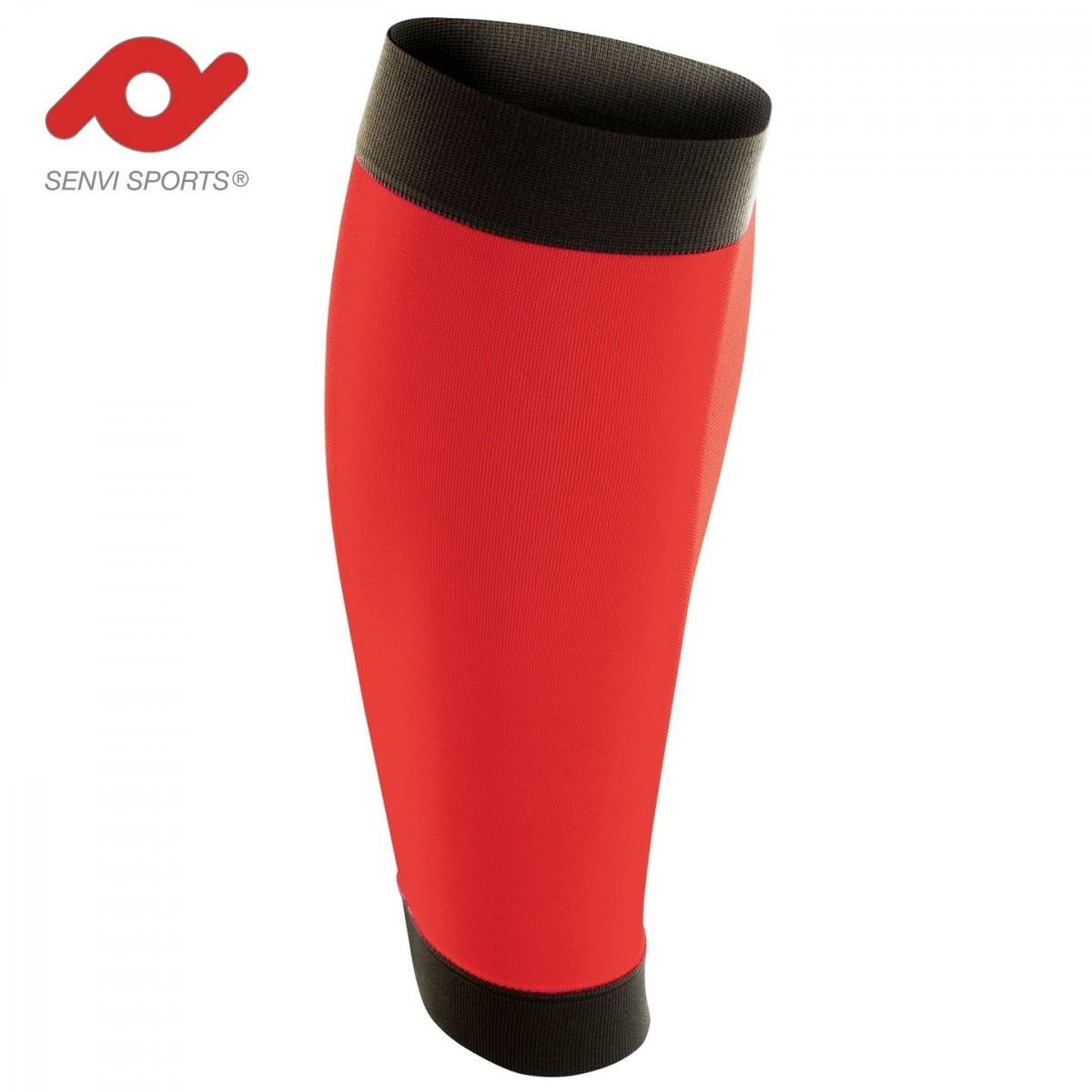 Senvi Sports Calf sleeves Compressie tubes Kleur Rood/Zwart Maat XS