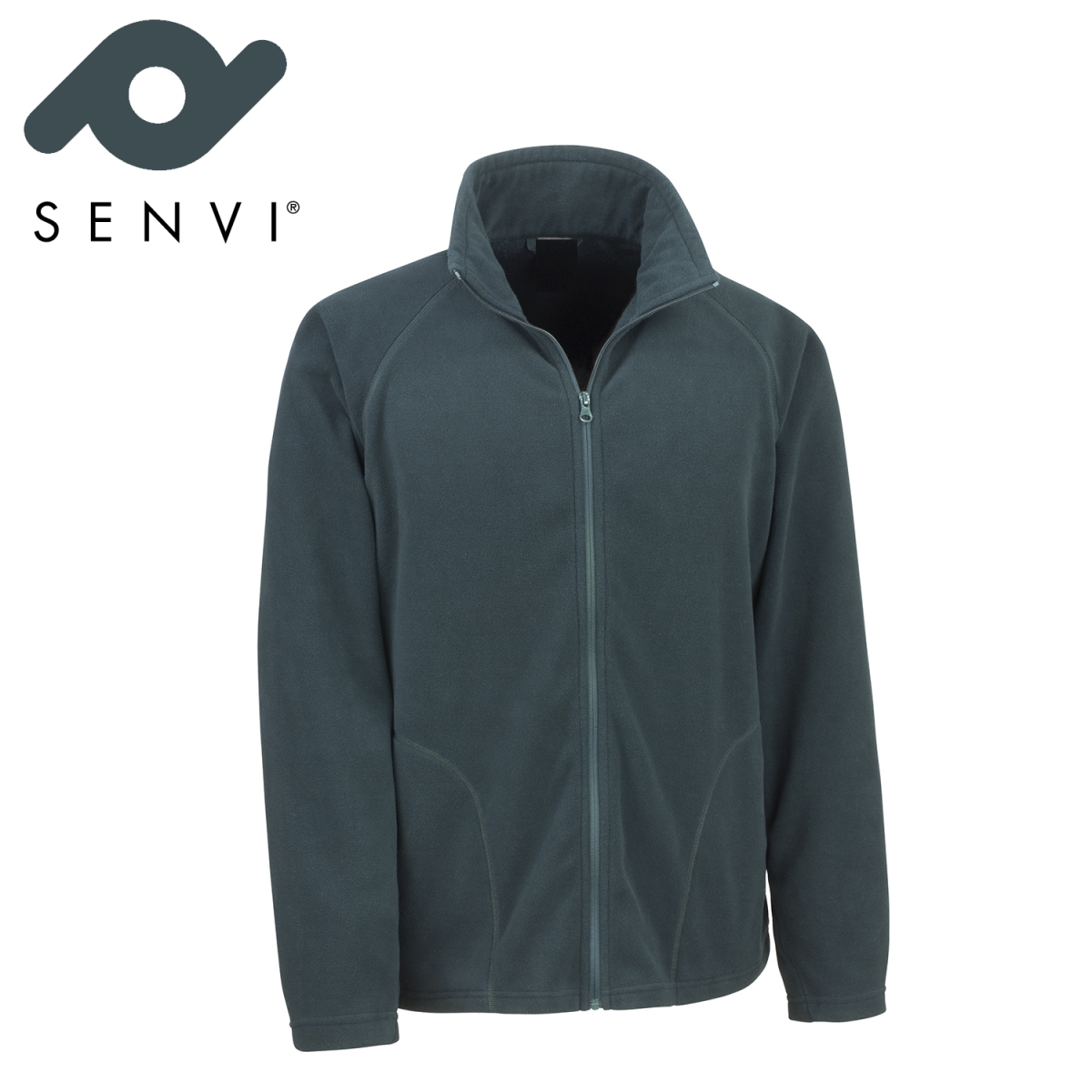 Senvi Basic Fleece Vest - Thermisch laag microfleece - Kleur Dennengroen - Maat XXXL