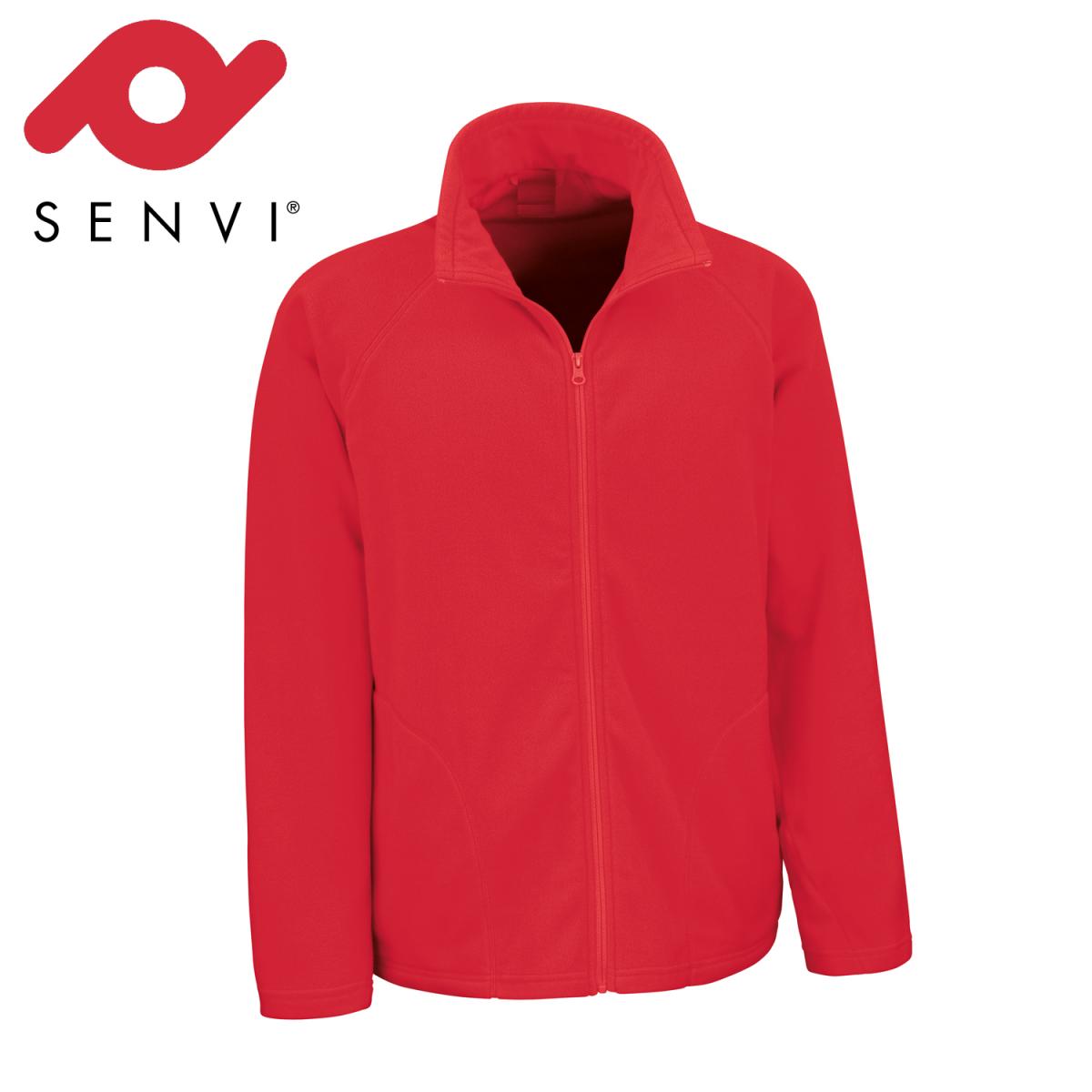 Senvi Basic Fleece Vest - Thermisch laag microfleece - Kleur Rood - Maat M
