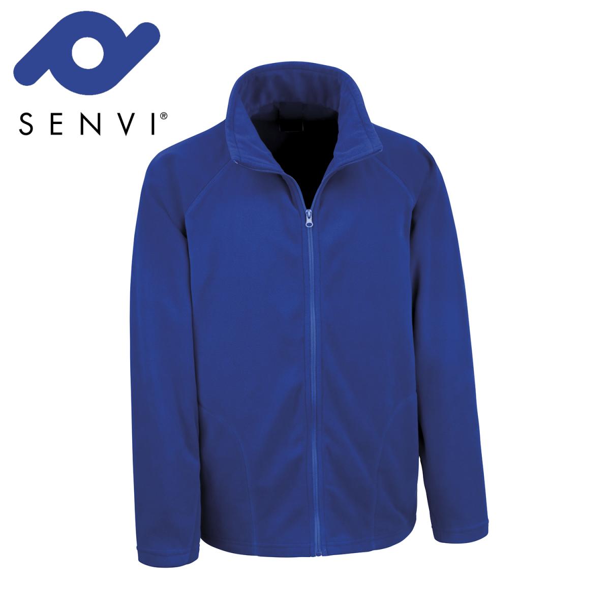 Senvi Basic Fleece Vest - Thermisch laag microfleece - Kleur Royal - Maat XXXL