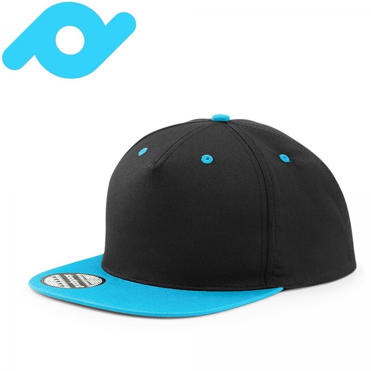 Senvi Snapback met Platte Klep Zwart/Blauw (One size fits all)