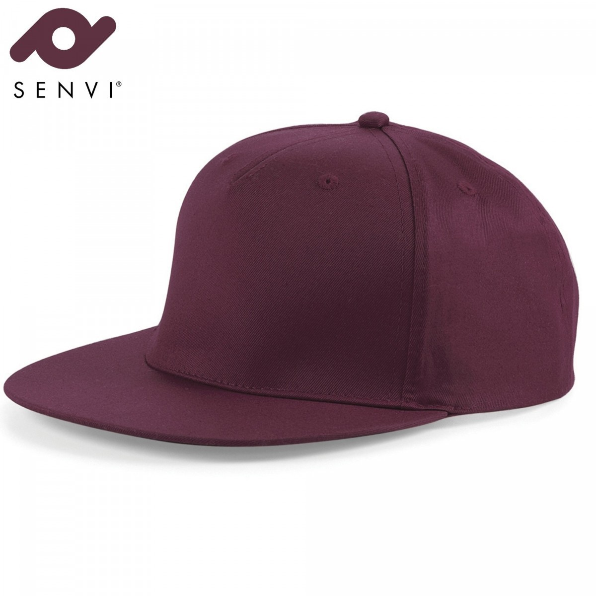 Senvi Snapback Rapper Cap Bordeaux (One size fits all)