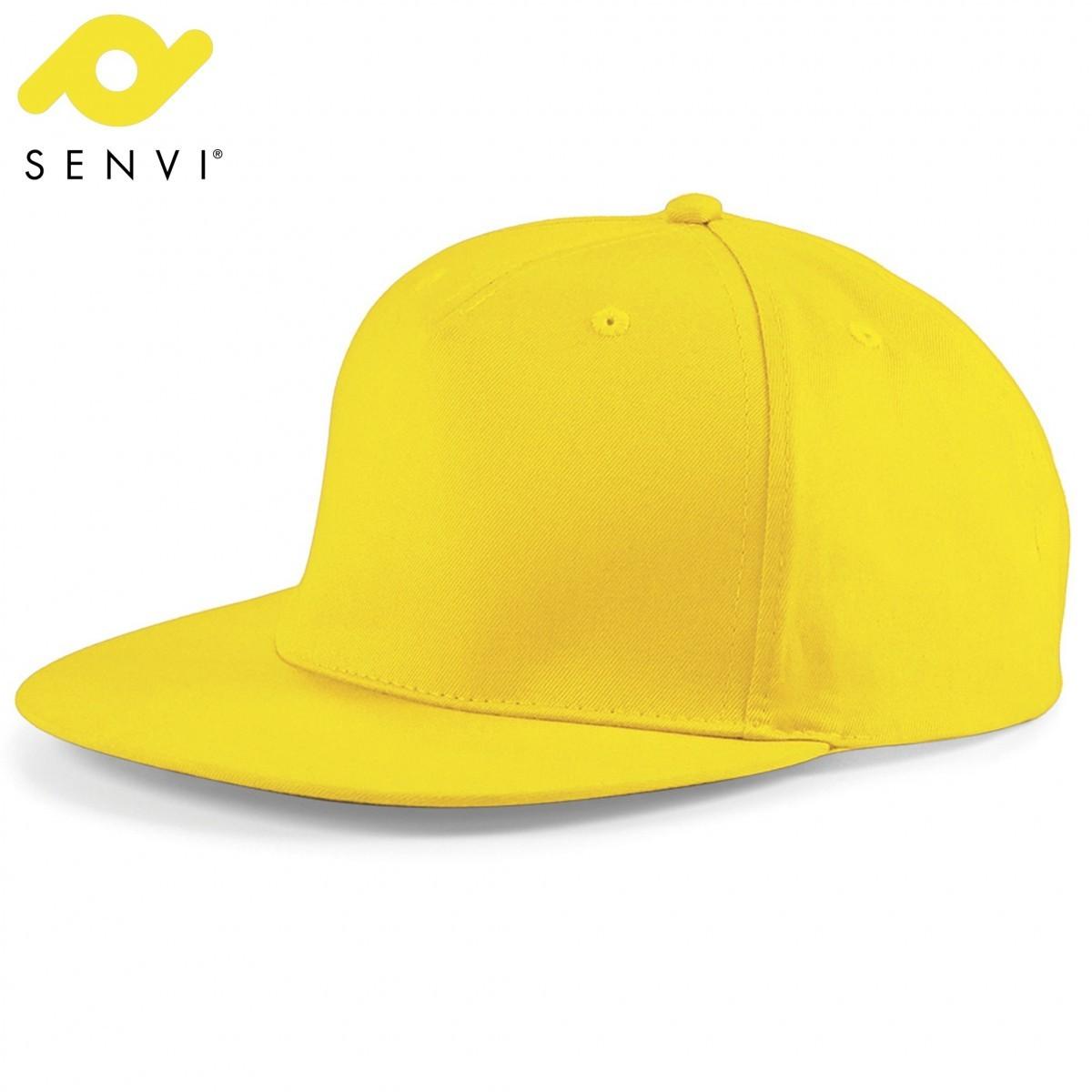 Senvi Snapback Rapper Cap Geel (One size fits all)