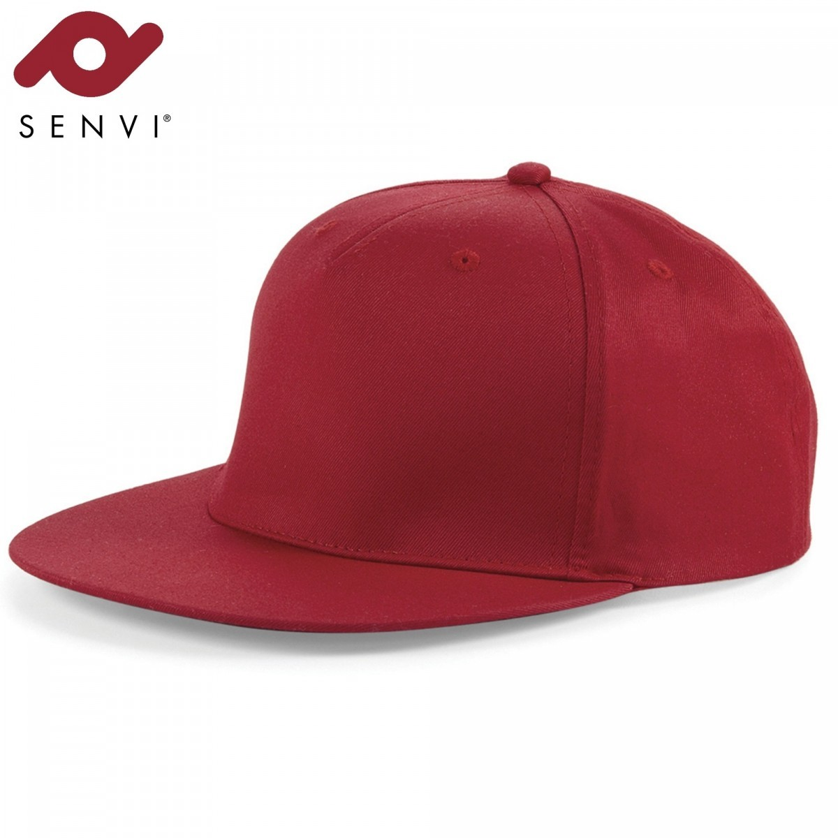Senvi Snapback Rapper Cap Rood (One size fits all)