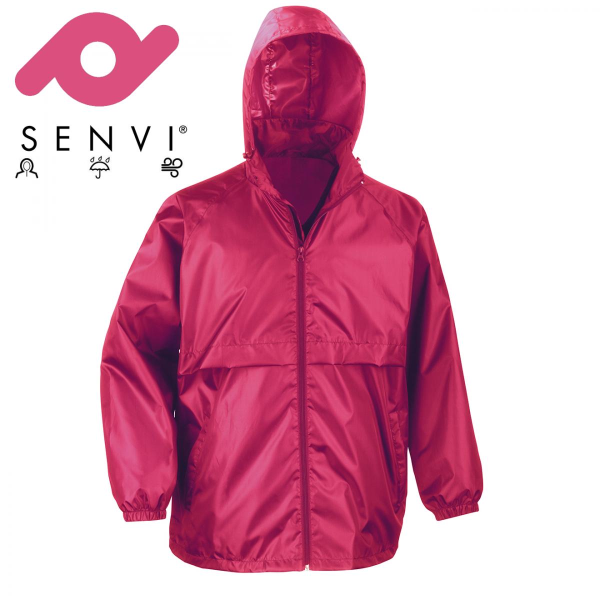 Senvi Basic Regenjas - Windjack Kleur: Roze - Maat L (Zeer licht van gewicht)