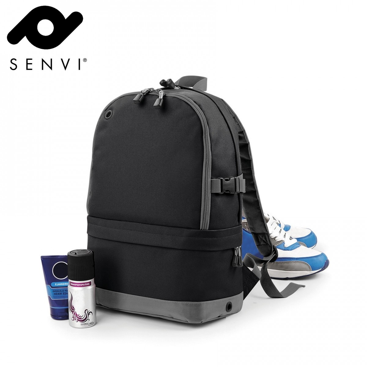 Senvi Sports Pro Rugzak kleur Zwart Grijs (waterafstotend)
