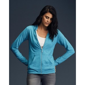 Womens` Tri-Blend Full Zip Hooded Jacket