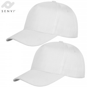Senvi 5-Panel Fashion Cap Kleur: WIT 2-Pack