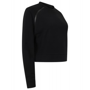 SENVI SPORTS CROPPED SWEATSHIRT BLACK