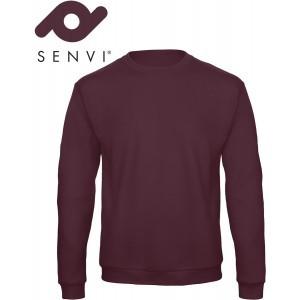 Senvi Basic Sweater (Kleur: Burgundy) - (Maat L)