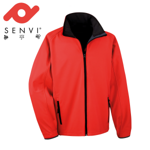 Senvi Softshell Jas - Kleur Rood//Zwart- Maat M