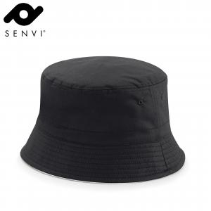 Senvi Reversible Bucket Hoed Maat S/M Zwart Grijs