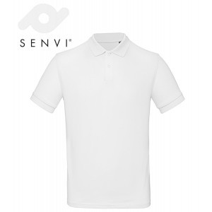 Senvi Classic Fit Polo - Maat S - Kleur Wit