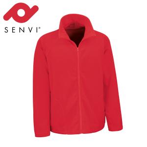 Senvi Basic Fleece Vest - Thermisch laag microfleece - Kleur Rood - Maat S