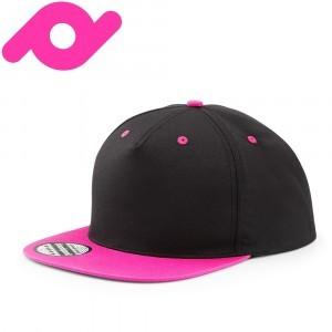 Senvi Snapback met Platte Klep Zwart/Roze (One size fits all)