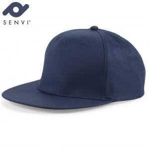 Senvi Snapback Rapper Cap Blauw (One size fits all)