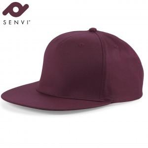 Senvi Snapback Rapper Cap Bordeaux (One size fits all)