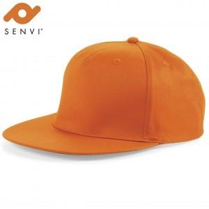 Senvi Snapback Rapper Cap Oranje (One size fits all)