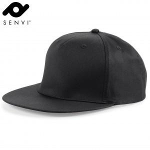 Senvi Snapback Rapper Cap Zwart (One size fits all)