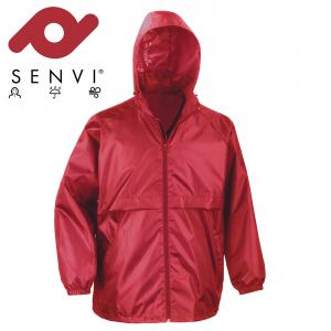 Senvi Basic Regenjas - Windjack Kleur: Rood - Maat L (Zeer licht van gewicht)