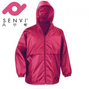 Senvi Basic Regenjas - Windjack Kleur: Roze - Maat S (Zeer licht van gewicht)