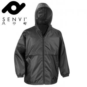 Senvi Basic Regenjas - Windjack Kleur: Zwart - Maat S (Zeer licht van gewicht)
