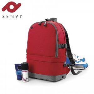 Senvi Sports Pro Rugzak kleur Rood - Grijs (waterafstotend)