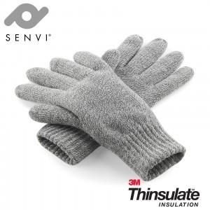 Senvi klassieke 3M Thinsulate™ Handschoenen Grijs Melee Maat L/XL (Volledig gevoerd)